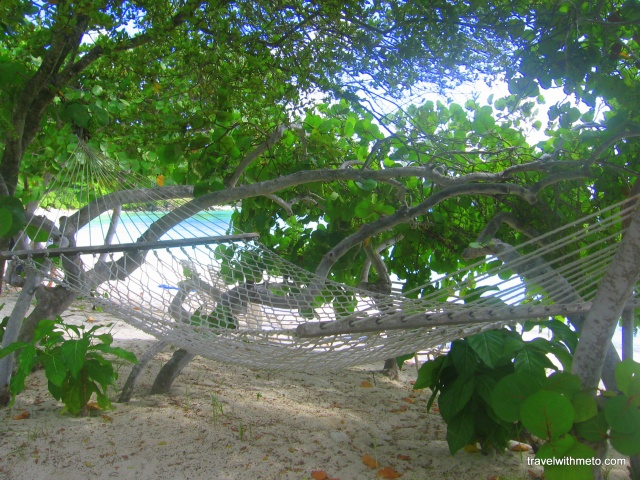 A hammock somewhere in St. John, US Virgin Islands