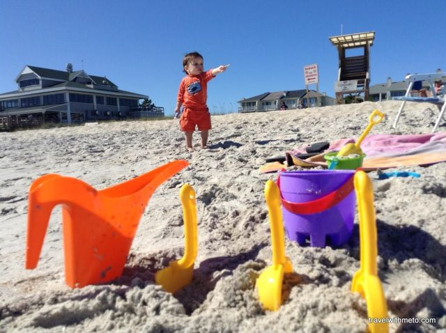 Micah playing lifeguard at Wrightsville Beach